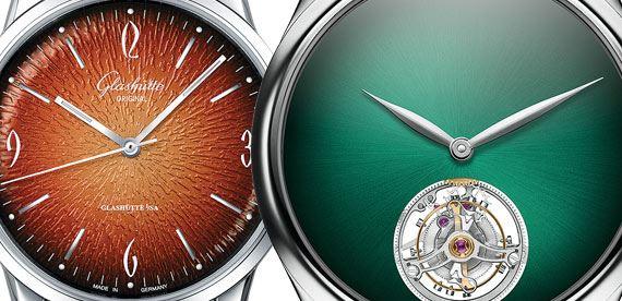 ساعت با صفحه گرادیانی