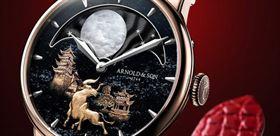 طراحی بی نظیر با طلا بر روی ساعت مچی مردانه لوکس