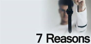 هفت دلیل برای اینکه ساعت بپوشید
