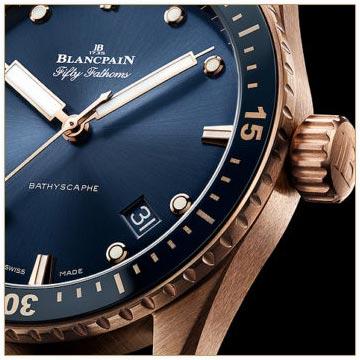 Blancpain Unveils Blue-Dialed Fifty Fathoms Bathyscaphe